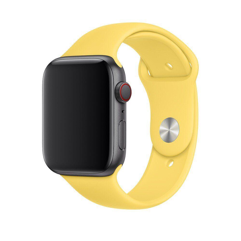 Ремешок ARM силиконовый Sport Band для Apple Watch 42/44 mm Yellow