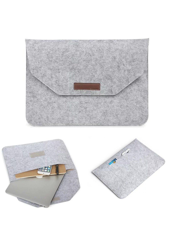Сумка-конверт фетровий для Macbook 13 grey, Серый