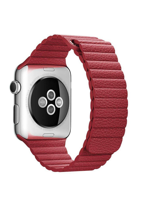 Ремінець Leather loop for Apple Watch 38 / 40mm Red, Червоний
