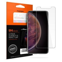 "Захисне скло Spigen ""Glas.tR SLIM HD"" для iPhone Xs Max / 11 Pro Max Glass прозоре (1Pack) Clear фото"