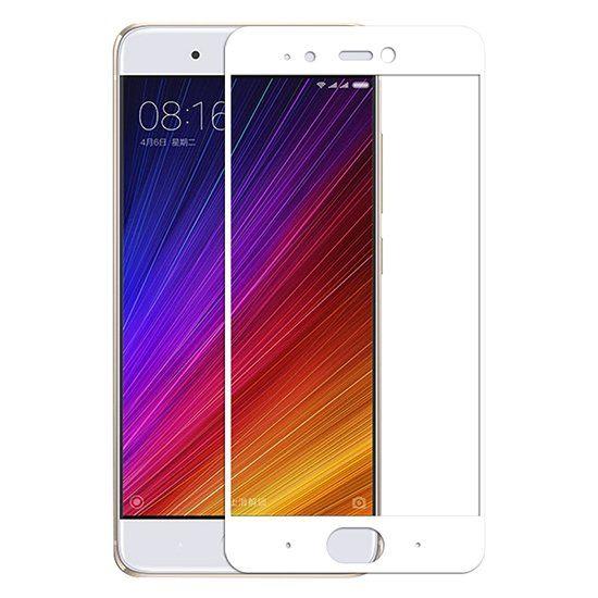 Захисне скло з рамкою для Xiaomi Mi 6 white, Прозрачный