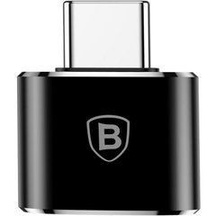 Перехідник USB to USB Type-C Baseus (CATOTG-01) чорний Black фото