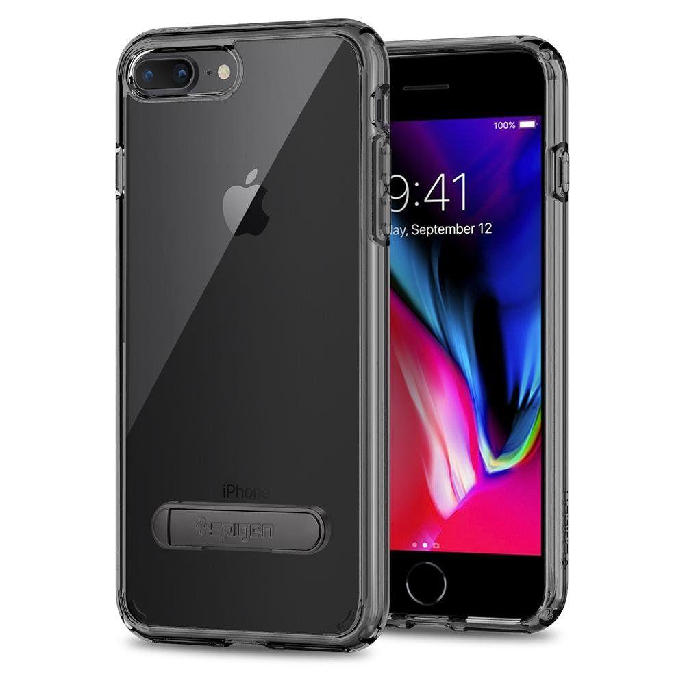 Чохол Spigen Crystal Hybrid для iPhone 8/7 Plus black, Черный