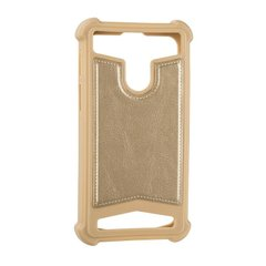 "Universal Soft Leather Case 5,5""""-5,7"""" Gold фото"