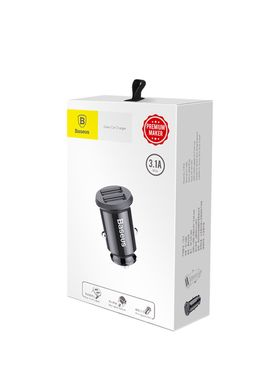 Автомобильная зарядка Baseus 2 USB 3.1A grain car charger black (CCALL-DS01) фото