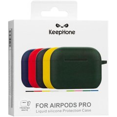 Silicon Case AirPods Pro (KeepHone) White фото