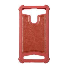 "Universal Soft Leather Case 4,5""""-4,8"""" Dark Red фото"