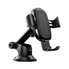 Холдер Baseus Wireless Fast Charger Gravity Car Mount (osculum type) (WXYL-A01) Black фото