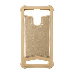 "Universal Soft Leather Case 5,0""""-5,3"""" Gold фото"
