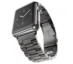 Металлический ремешок Stainless Steel for Apple Watch 42 mm/44 mm black фото