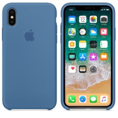 Чехол силиконовый soft-touch ARM Silicone case для iPhone X/Xs синий Denim Blue фото