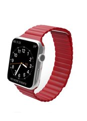 Ремешок Leather loop for Apple Watch 42/44 mm Red фото