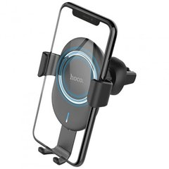 Холдер Hoco CW17 Black (Wireless Charger) фото