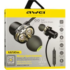 Stereo Bluetooth Headset Awei X650BL Sport Black фото