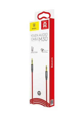 Кабель Baseus Audio Cable AUX 3.5mm Jack M30 Yiven 1m Red (CAM30-B91) фото