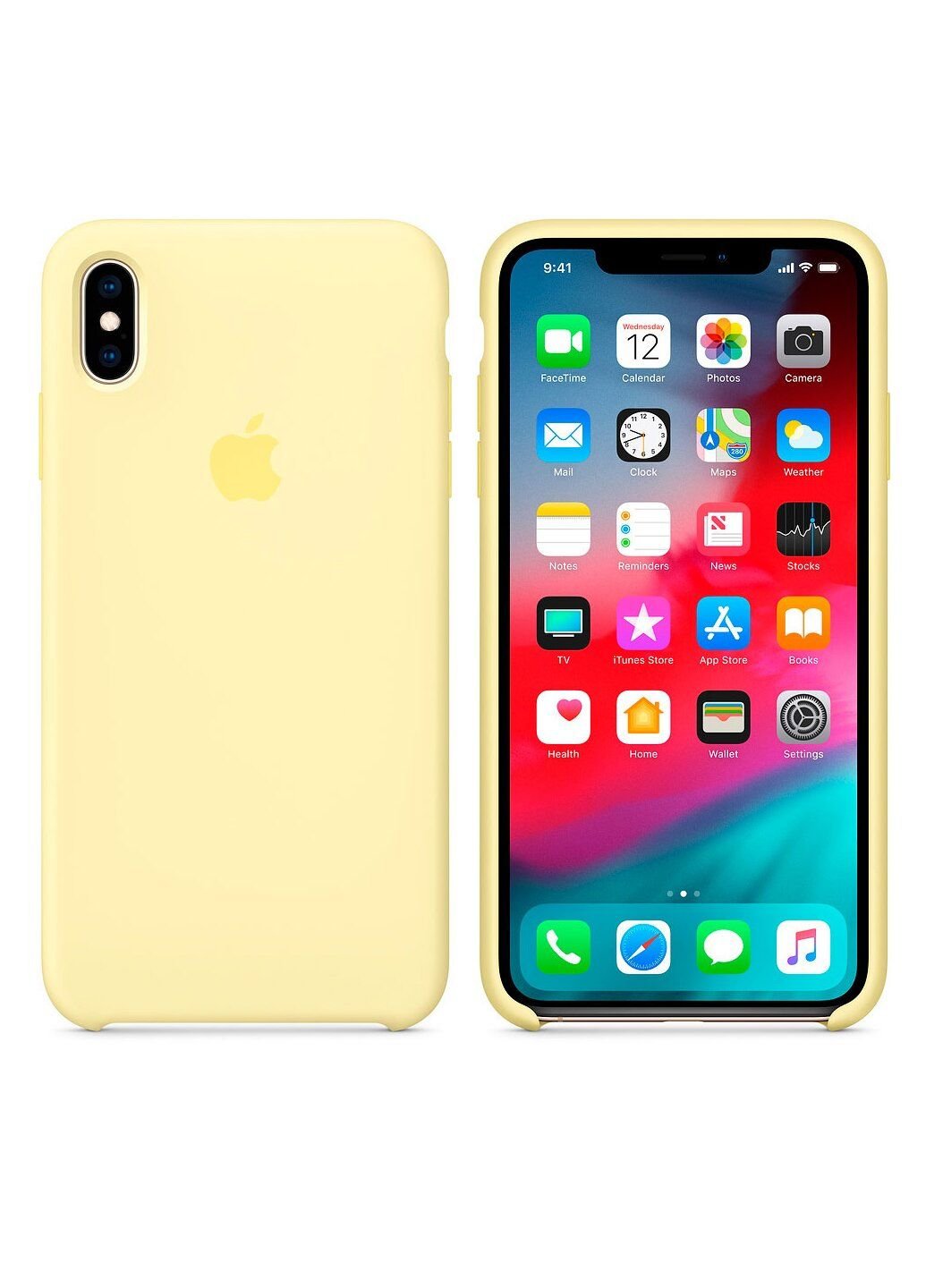 Чехол силиконовый soft-touch Apple Silicone case для iPhone Xs Max желтый Mellow Yellow