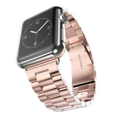 Металлический ремешок Stainless Steel for Apple Watch 42 mm/44 mm pink фото